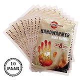 Warmpack Handwärmer | angenehme Wärmepads | kuschlig weiches Wärmekissen | 8 Stunden wohltuende Wärme von 57°C | 10er Pack