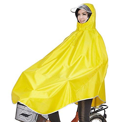 Tourwin Regenponcho für Camping Fahrrad Regenmantel Regenschutz mit Kapuze, Poncho,Gelb
