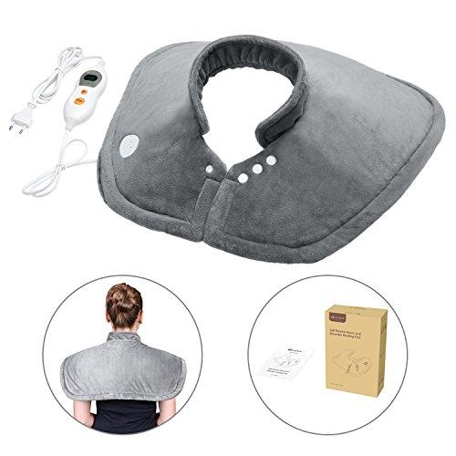 MARNUR Wärmekissen Heizkissen mit Abschaltautomatik und SchnellwärmeFunktion für Nacken Schultern und die obere Rückenpartie