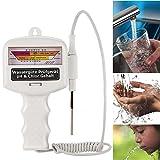 Qulista Wasserqualität Tester PH,Wassertestgerät PH Chlor,Chlormessgerät Messgerät,Wassertester für Pool Spa Schwimmbad