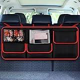 Kofferraum organizer auto, Auto netz kofferraum, ausgestattet mit [Starkes elastisches Netz & 4 Zauberstabstruktur ]auto tasche kofferraum. Die bessere Wahl von auto netz, Autositztasche