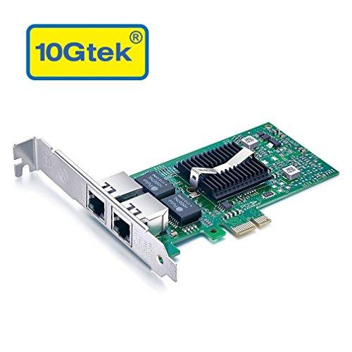 10Gtek für Intel E1G42ET, Intel 82576 Chip Gigabit Ethernet Konvergierter Netzwerkadapter (NIC), Dual RJ45 Kupfer Ports, PCI Express 2.0 X 1