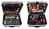 Projahn Elektro Werkzeugkoffer, 128-teilig bestückt, hochwertige und kompakte Werkzeugbox für den Heimwerker und Profi, mit 2 Schlössern, Art.-Nr. 8683
