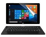 ALLDOCUBE iwork10 Pro 2-in-1 Tablet PC mit Tastatur, 10,1 Zoll 1920x1200 IPS-Bildschirm, Windows 10 + Android 5.1, Intel Atom X5 Z8350 Quad Core, 4 GB RAM, 64 GB ROM, USB Typ C, HDMI-Ausgang, Schwarz (Bitte wählen Sie Ihren Adapter in Promo)