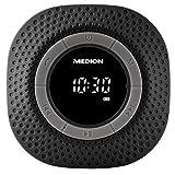 Medion Life E66554 MD 43554 Duschradio mit Bluetooth, 20 Watt, PLL UKW, IPX7, eingebauter Akku, schwarz
