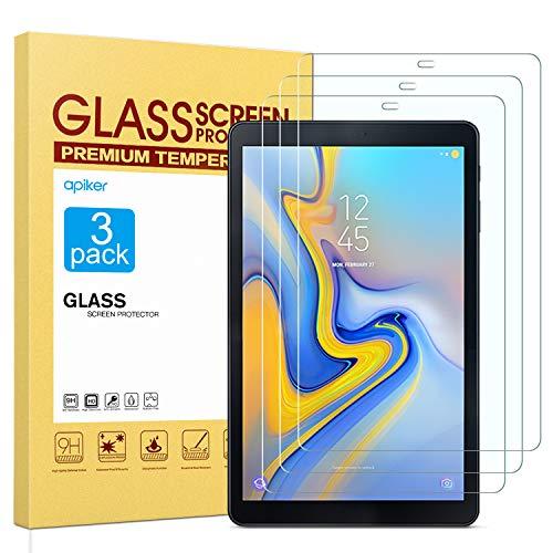 apiker [3 Stück] Schutzfolie für Samsung Galaxy Tab A 10.5 SM-T590 / T595,Tab A 10.5Panzerglas mit 9H Härte,Bläschenfrei,2.5D abgerundet Kante,einfach anzubringen