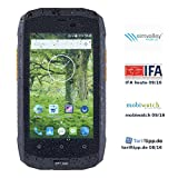 simvalley Mobile Dual-SIM-Outdoor-Smartphone, LTE, 4'/10,2-cm-TFT, Android 5.1, IP67