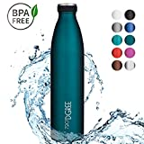 720°DGREE Edelstahl Trinkflasche milkyBottle- 1000ml, 1l | Isolierflasche Schmal | Thermosflasche Auslaufsicher | Perfekte Outdoor Thermoskanne für Kinder, Schule, Sport, Training, Fitness, Gym