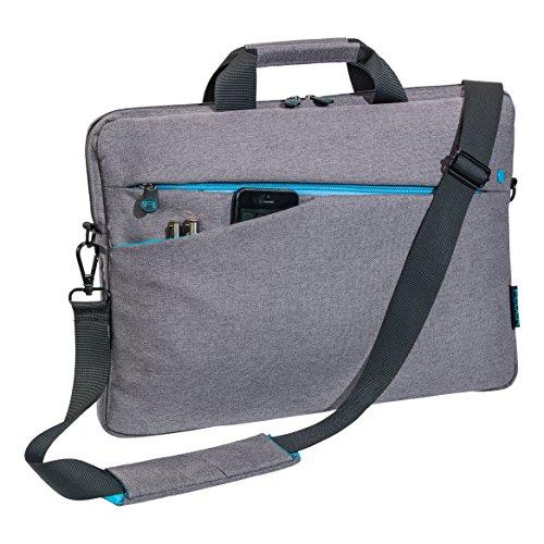 PEDEA Notebooktasche 'Fashion' für 17,3 Zoll (43,9cm) mit Zubehörfach und Schultergurt, grau