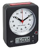 TFA Dostnmann Funkwecker Combo 60.1511 mit analoger Uhrzeit und digitaler Weckzeit, besonders leise und genau