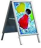 Kundenstopper Outdoor Wasserfest, DIN A1, Plakatständer mit 32mm, Gehrungsecken
