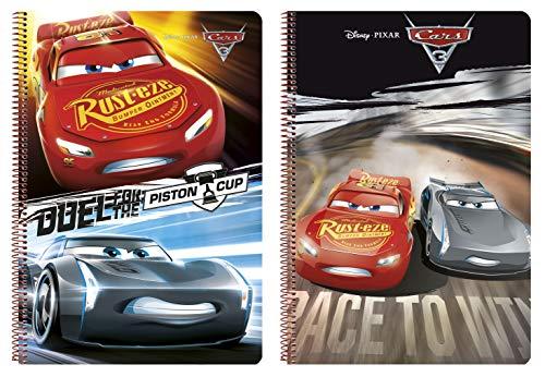 Notizbuch Cars 3 - Offiziell - 80 Seiten, Hardcover