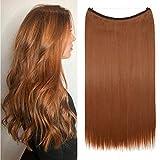 TESS Haarteil Extensions 1 Tresse Ombre Haarverlängerung Synthetische Haare Haarverdichtung 20'(50cm)-90g Glatt Erdbraun