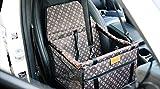 GUOYIWasserdicht Atmungsaktiv Haustier Auto Matte Haustier Sicherheit Auto Sitz Doppelt Schicht Verdickt Haustier Tragen Auto Tasche Reisen Haustier Auto Kissen(Braun)