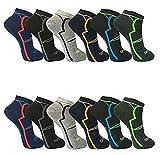 12 Paar Herren Sneaker Socken Füßlinge Kurzsocken Baumwolle (39-42, Muster 2)