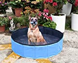 Yidarton Swimming Pool für Hunde Hundepool Doggy Pool Badewanne Pool Umweltfreundliches PVC Hundepool 80cm 120cm 160cm
