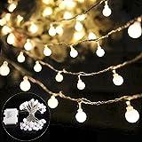 B-right 40 LEDs Globe Lichterkette, LED lichterkette warmweiß, Globe String Licht Sternenlicht, Innen- und Außen Deko Glühbirne, Weihnachtsbeleuchtung für Weihnachten, Hochzeit, Party, Weihnachtsbaum