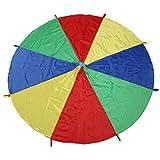 LEADSTAR Kinder Spielen Zelten Fallschirm mit 8 Griffen für Indoor Outdoor, 2M (6 Ft)