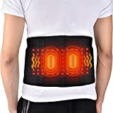 HailiCare Beheizter Rückenstützgürtel, Wärme & Vibrationsmassage Therapie 3 Einstellungen, Heizkissen Rückenbandage Rücken Gurt für Krämpfe im Bauchbereich Arthritischer Magenschmerz (74-114cm Taille)