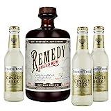 Remedy Spiced Rum (1 x 0,7l) + 3 Flaschen Fever Tree Ginger Beer (3 x 0,2l) (Mehrweg) inklusive 0,45€ Pfand