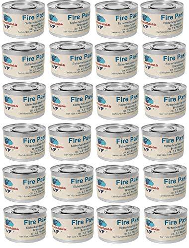 Gastro-Bedarf-Gutheil 24 x Brennpaste je Dose 200g Fire Paste Sicherheitsbrennpaste ca. 2,5 Std. für Chafing Dish Speisewärmer