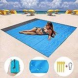 ZMZTec Picknickdecke, Stranddecke Strandtuch, Wasserdichte sandabweisende Camingmatte, schnell troknend und kompakt Campingdecke für Reisen, Camping, Wandern (200cm*140cm)