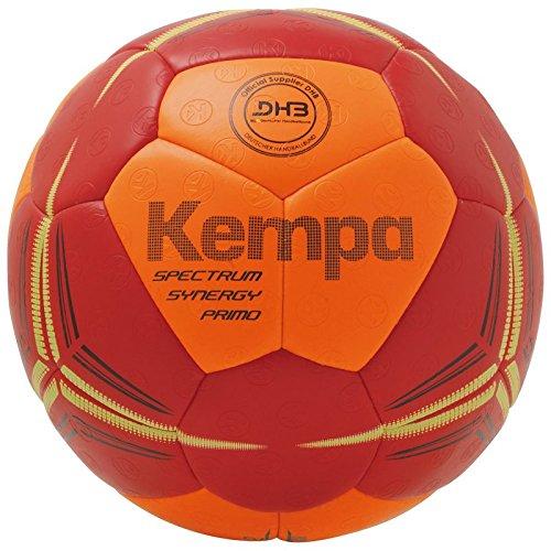 Kempa Spectrum Synergy Primo Ball Handball, Fluo orange/deep rot, 2