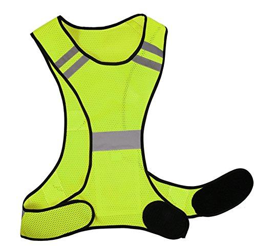 Reflektierende Weste Laufweste Herren Damen Running Warnweste Sicherheitsweste Neon Gelb Kinder Prowiste Funktionsweste