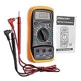 JZK Digital Multimeter XL830L mit LCD-Hintergrundbeleuchtung - Messgerät für Strom, AC / DC-Spannung, Widerstand, Kontinuität, Dioden usw. schwarz/gelb (Ink.9V Batterie und Messleitungen)