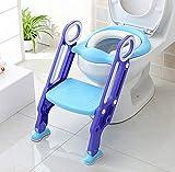 HOMFA Töpfchentrainer Toiletten-Trainer Kinder Töpfchen Kinder-Toilettensitz mit Leiter Töpfchen Sitz mit Treppe 75 Kg belastbar