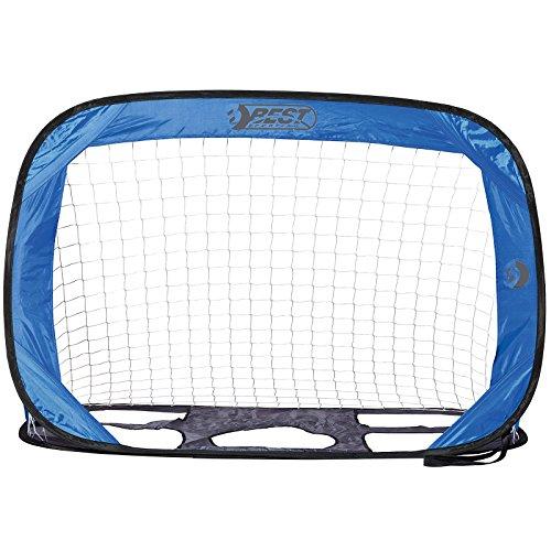 Best Sporting Fußball Pop up Tor, selbst-aufstellendes Minitor in verschiedene Ausführungen, Variante:Blau Tornetz und Torwand