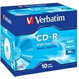 Verbatim CD-R 90min 800MB CD-Rohlinge im Jewel Case 10er Pack
