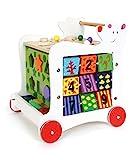 Lauflernwagen'Bär', Lauflernhilfe aus Holz, vielseitig bespielbares Motorikspielzeug/Lernspielzeug, Babyspielzeug ab 12 Monaten
