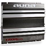 auna AB-250 • Car Amplifier • Car HiFi Verstärker • 2-Kanal Auto-Endstufe • 1200 Watt max. • brückbar • Stereo-Mono-Betrieb • 20Hz-20kHz Frequenz • grau-Silber