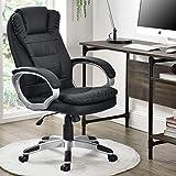 ArtLife Chefsessel Orlando mit doppelter Polsterung schwarz | höhenverstellbar | ergonomisch | modern | Bürostuhl Drehstuhl Schreibtischstuhl