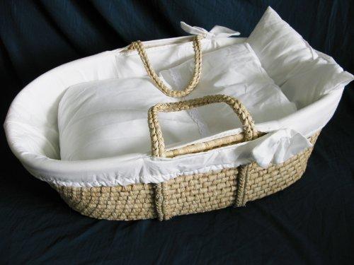 Hanse Baby Moseskorb Babykorb Reborn Tragekorb Beistellbett Moseskörbchen basket + Wäsche