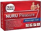 NURU Massage Gel Pulver. Machen sie ihre eigenen Nuru Gel, Super Glatt, Geruchlos und Geschmacksneutral, Für nasse Nuru Gel und erotische Body-to-Body Massage. (3 sachets (für 3x 500 ML Nuru Gel))