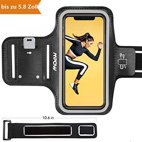 Mpow Sportarmband Handy für iPhone X/8/7/6, schweißfest Handy Armband Joggen mit Verlängerungsband, Sportarmband für Huawei P20 Lite,Samsung Galaxy J5, bis zu 5.8 Zoll