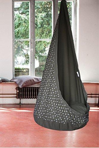 Hängesessel Hängehöhle 'RelaxMe' für Kinder, Markenware von GI Design (Soft Grey)