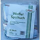Flinka Waffel Spültücher Naturbelassen 35x35 cm Bunt (10 Stck. Packung)