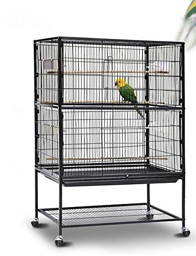 Yahee 2/3 Ebenen große Vogelkäfig Voliere für Chinchilla Kakadu Papagei Finch Vogel mit Sitzstange und Räder (2 Ebenen)