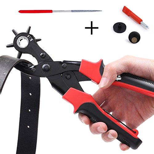 Takit PP1 - Lochzange, Hochstrapazierfähiges Leder-locherwerkzeug Für Gürtel, Geldbeutel, Armbanduhrenbänder Und Mehr, 6 Größen - 2mm , 2,5mm, 3mm, 3,5mm, 4mm, 4,5mm