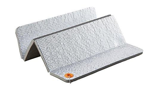 Uquip Sitzkissen Josy - Soft-Fleece, Isolierte Unterseite, Platzsparend faltbar
