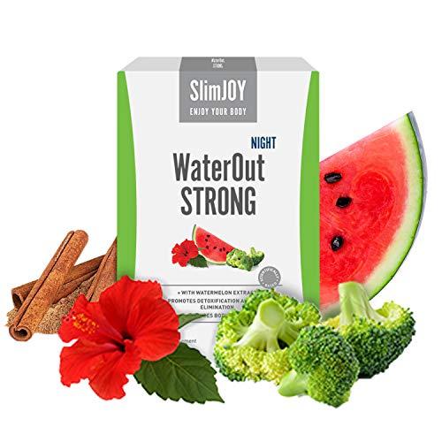 WaterOut Strong Night Diuretika von SlimJoy - 60 Kapseln (2x30) - Körper Entwässern (Wassergewicht verlieren, Fett verbrennen, Entgiftet) - Nacht Gewichtsverlust - 30% bessere Absorption