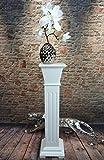 Livitat Blumensäule Blumenständer Blumenhocker Landhaus Shabby Weiß 66 cm hoch SP13