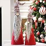 Valery Madelyn Stoff Weihnachtsdekoration Weihnachtswichtel Engel Puppe Winter Dekofigur 2er Set Stehender Weihnachten Deko Figur MEHRWEG Verpackung