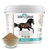 Ida Plus - Bierhefe Bt 6kg - Pulver für Pferde & Ponys - Nahrungsergänzung für glänzendes Fell, kräftige Haut & Gute Hornstruktur - reich an B-Vitaminen, Mineralien & Spurenelementen - Naturprodukt