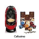 Tchibo Cafissimo Pure Kapselmaschine Red (Kaffeemaschine rot, inkl. 30 Kapseln)