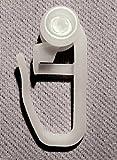 100 Stück Gardinenröllchen für Schienen Innenlauf Gardinen Röllchen Gardinenrollen Vorhang Gleiter Faltenhaken Typ517