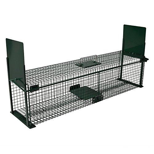 Moorland Safe 5007 extra große Lebend-Falle 100x25x25 cm als Marder-Falle, Katzen-Falle, Fuchs-Falle mit 2 Eingängen
